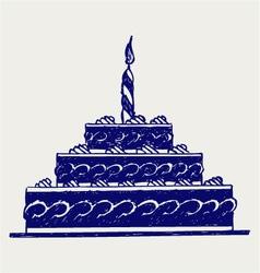 Cute cake vector