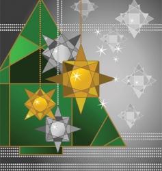 geometric christmas vector image