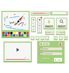UI Web Elements vector image