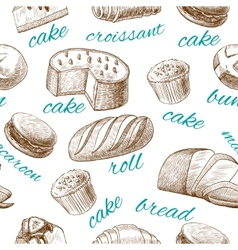 Baking pastry seamless wallpaper vector