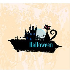 Halloween invitation poster vector