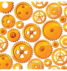 Mechanical wheels background vector