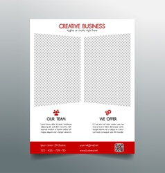 Creative business flyer template - red sleek desig vector