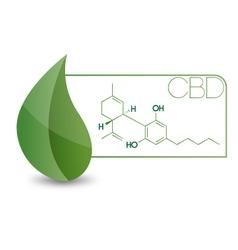 CBD-Molecule vector image