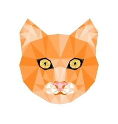 Geometric cat head vector
