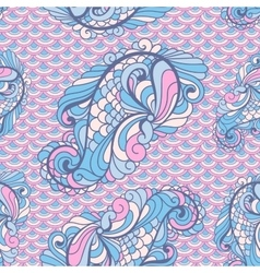 Seamless paisley pattern in soft colors vector