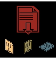 File download icon vector