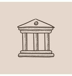 Museum sketch icon vector