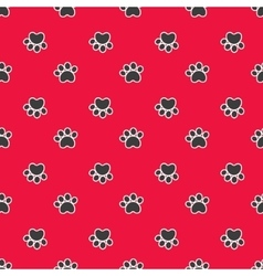 Seamless pattern with cat or dog footprints vector