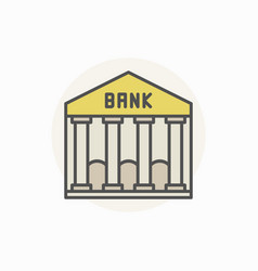 Bank colorful icon vector