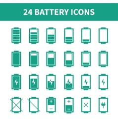 Battery web iconssymbolsign in flat style Charge vector image