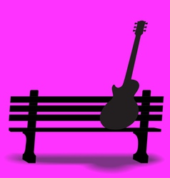 Bench Guitar 2 vector image vector image