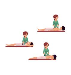 Cartoon laser epilation in salon scene set vector