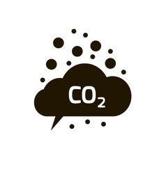 Co2 emissions icon cloud flat carbon vector