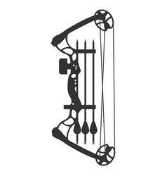 Compound bow and arrow vector