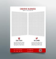 Creative business flyer template - red sleek desig vector image vector image