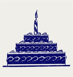 Cute cake vector image