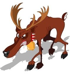 Dreadful reindeer vector