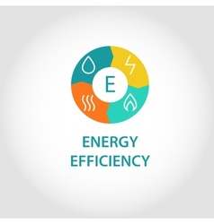 Energy efficienty logo vector