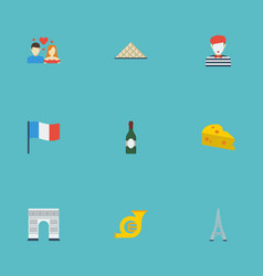 Flat icons love pyramid cheddar and other vector