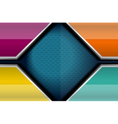 Geometric color background template vector