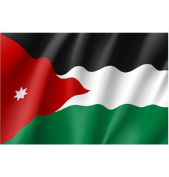 Jordan national flag vector
