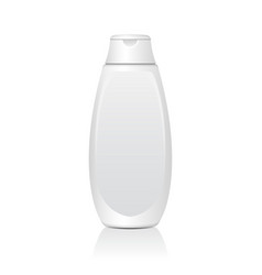 realistic white cosmetic bottles tube or vector image vector image