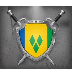 Saint vincent and grenadines medieval background vector