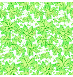 Seamless spring pattern with maple leaves vector