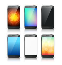 smartphone bg vector image vector image