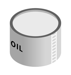 Storage oil tank isometric 3d icon vector image