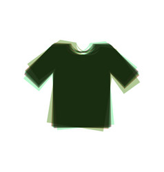 T-shirt sign colorful icon vector