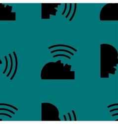 Talking web icon flat design seamless pattern vector