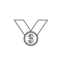 third place icon vector image