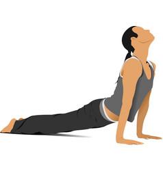 woman gymnastic free callisthenics vector image vector image