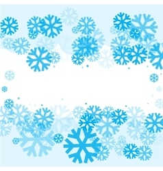 Bright blue background with snowflakes vector