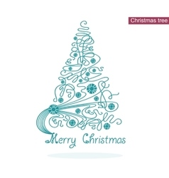 Elegance christmas tree vector