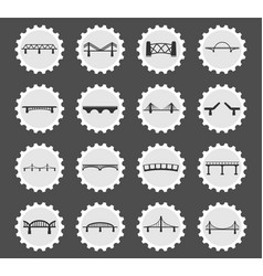 Bridges icons set vector