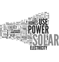 What to expect from solar power for homes text vector