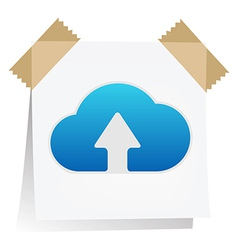 Reminder with cloud computing icon vector