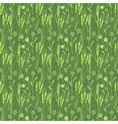 Wheat seamless pattern vector