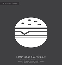 Sandwich premium icon vector