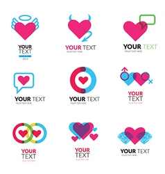 Heart set logo2 vector