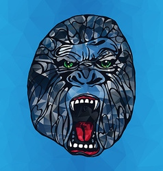 Growling gorilla tattoo vector