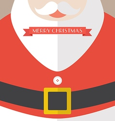Santa claus coat merry christmas vector