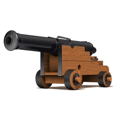 Old ship cannon vector