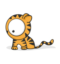 Big eyed tiger vector