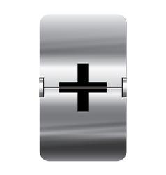 Alphabet silver flipboard letters plus vector