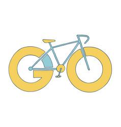 bike icon go for a ride adventure concept vector image