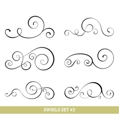 Calligraphic swirls collection vector image vector image